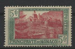 MONACO N° 102 Cote 27 €. 5Fr Vert Et Rose-lilas. Neuf ** (MNH). TB - Monaco