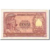 Billet, Italie, 100 Lire, 1951, 1951-12-31, KM:92a, TTB - [ 2] 1946-… : Républic