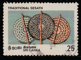 Sri Lanka Ceylon 1996 Traditional Handicrafts 0.25R Multicoloured SW 679 O Used - Sri Lanka (Ceylon) (1948-...)
