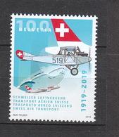 Schweiz **  2588 100 Jahre Schweizer Luftverkehr 2019 - Schweiz