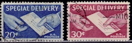 United States 1954-57, Special Delivery, Sc#E20,21, Used - Special Delivery, Registration & Certified