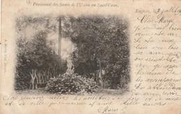 ENGHIEN - Pensionnat Des Soeurs De L'Union Au Sacré-Coeur / UNE VUE DES JARDINS/ Voyagée 1902 / Photo A. Meslin (Anvers) - Edingen