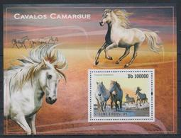 T336. Sao Tome And Principe - MNH - 2010 - Nature - Animals - Horses - Bl. - Flora