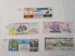 Lot De 5 Billets De Loterie, Années 1970 - Loterijbiljetten
