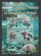 N731. Niger - MNH - 2013 - Fauna - Animals - Marine Life - Lamantine - Flora