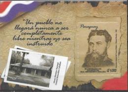PARAGUAY, 2019, MNH, MUSUEMS, NATIONAL HISTORICAL MUSEUM, GENERAL BERNARDINO CABALLERO, POLITICAL FIGURES,  S/SHEET - Museums