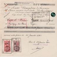 1940 / Sté Vermandoise Sucreries / Sucre / Usines Sinistrées Ste Emilie, Hervilly & Cartigny / Paris / 02 Saint-Quentin - 1939-45