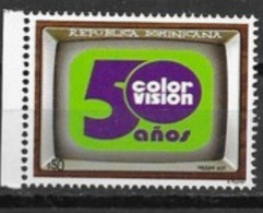 DOMINICAN REPUBLIC, 2019, MNH, TV, 50 YEARS OF COLOUR TV, 1v - Stamps