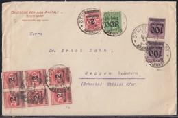 DR Brief Mif Minr.2x 289b,301,7x 309Pa Stuttgart 10.10.23 Gel. In Schweiz Geprüft - Deutschland