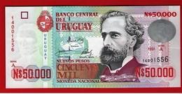 URUGUAY 50000 NUEVOS PESOS 50.000 - Serie A 1991 Pick 70 UNC NEUF FDS - Uruguay