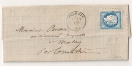 LAC Notaire TRAMAYES Saone Et Loire Pour MOLAY. - Postmark Collection (Covers)