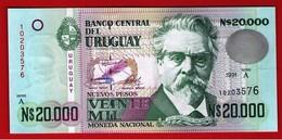 URUGUAY 20000 NUEVOS PESOS 20.000 Serie A - 1991 Pick 69 UNC NEUF FDS - Uruguay