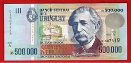 URUGUAY 500000 NUEVOS PESOS 500.000 Serie A 1992 Pick 73 UNC NEUF FDS - Uruguay