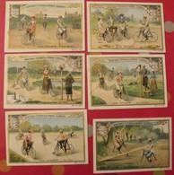 5 Chromo Liebig : Jeux Cyclistes. Vélo. 1901. S 658. édition Française. + 1 Gratuite - Liebig