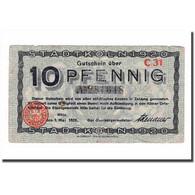 Billet, Allemagne, 10 Pfennig, 1920, 1920-05-01, TB - [ 3] 1918-1933 : République De Weimar