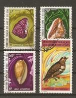 Afars Et Issas 1972 -  Petit Lot De 4 ° - Coquillages - Oiseau - Afars Et Issas (1967-1977)