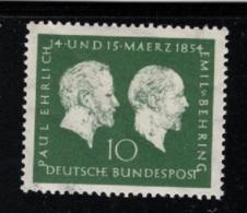1954 13. März Paul Ehrlich Mi DE 197 Sn DE 722 Yt DE 73 Sg DE 1123 AFA DE 1160 Postfr. Xx - [7] République Fédérale