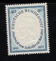 1955 9. Mai Friedrich Von Schiller Mi DE 210 Sn DE 727 Yt DE 86 Sg DE 1136 AFA DE 1173 Postfr. Xx - [7] République Fédérale
