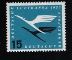 1955  31. März Lufthansa Mi DE 207Vb Yt DE 83 Var1 Sg DE 1133 Postfr. Xx - [7] République Fédérale