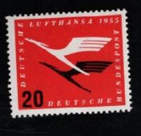 1955  31. März Lufthansa Mi DE 208Vb Yt DE 84 Var1 Sg DE 1133 Postfr. Xx - [7] République Fédérale