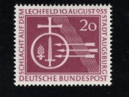 1955  10. Aug. Lechfeld Mi DE 216 Sn DE 732 Yt DE 92 Sg DE 1142 AFA DE 1179postfr. Xx - [7] République Fédérale