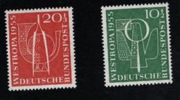 1955  14. Sept. Westropa Mi DE 217 - 18 Sn DE B342 - 43 Yt DE 93 - 94 Sg DE 1143 - 44   Postfr. Xx - BRD