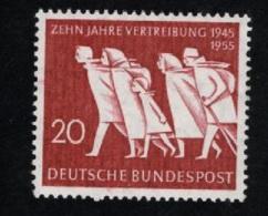 1955  2. Aug. Vertreibung Mi DE 215 Sn DE 733 Yt DE 91 Sg DE 1141 AFA DE 1178 Postfr. Xx - [7] République Fédérale