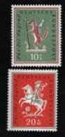 1958  1. Apr. Volkslieder Mi DE 286 - 87 Sn DE B360 - 61 Yt DE 157 - 58  Sg DE 1204 - 5  Postfr. Xx - [7] République Fédérale