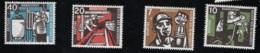 1957  1. Okt. Kohlebergbau Mi DE 270 - 73 Sn DE B356 - 59 Yt DE 142 - 43 Sg DE 1189 - 92 Postfr. Xx - [7] République Fédérale