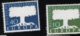 1957 16. Sept. Europa Mi DE 268 - 69 Sn DE 771 - 72 Yt DE 140 - 41 Sg DE 1187 - 88  Postfr. Xx - [7] République Fédérale