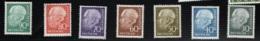 1956 Theodor Heuss Mi DE 259 - 60 Sn DE 755 - 61 Yt DE 125 - 31 Sg DE 1122 - 28   Normal Gum Postfr. Xx - [7] République Fédérale