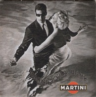 "SOUS-BOCKS  Coaster MARTINI  ""Bikini Di Vita, Baby"" Rien Au Dos - Beer Mats"