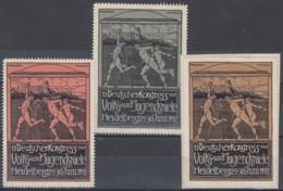 ES2-35 GERMANY ALEMANIA 1912 CINDERELLA HEILDELBERG SPORT CONGRESS - Alemania