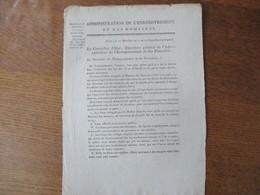 22 MESSIDOR AN 11 ALIENATIONS-EXECUTION DES LOIS DES 15 ET 16 FLOREAL AN 10 LE CONSEILLER D'ETAT - Historische Dokumente