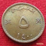 Oman 5 Baisa 1979 / 1400 KM# 50  Omã - Oman