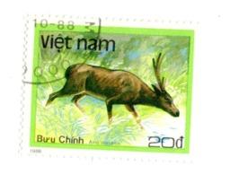 Viet Nam  VN 879  1988 Hog Deer Axis Porcinus Animaux Faune   Cerf   Mammifères - Vietnam