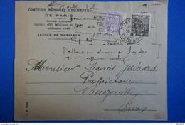 L 64 FRANCE LETTRE 1931 HONFLEUR A BEUZEVILLE TIMBRES EXPO COL ET BLANC AFFRANCHISSEMENT PUBLICITE+ PERFORATIONS - France