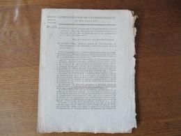 21 FLOREAL AN 11 INSTRUCTION CONCERNANT LA COMPTABILITE DES CEDULES SOUSCRITES POUR PRIX DE VENTE DES DOMAINES NATIONAUX - Historische Dokumente