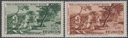 Reunion 1942 - Airmal Stamps: Children's Fund - Mi 192-193 ** MNH - Réunion (1852-1975)