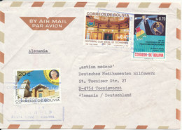 Bolivia Air Mail Cover Sent To Germany 18-2-1991 Topic Stamps - Bolivia