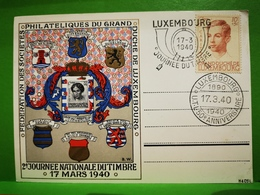 Luxembourg, Journée Nationale Du Timbre 1940 - Cartes Commémoratives