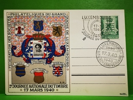 Luxembourg, Journée Nationale Du Timbre 1940 - Herdenkingskaarten