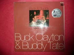 LP33 N°1319 - BUCK CLAYTON & BUDDY TATE - COFFRET 2 LP 13 TITRES - Jazz