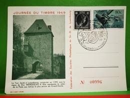 Luxembourg, Journée Nationale Du Timbre 1949 - Herdenkingskaarten
