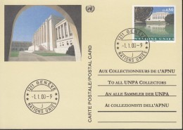 UNO GENF  Ganzsache P 10, Gestempelt 1.1.00, Palais Des Nations, Genf 1993 - Briefe U. Dokumente