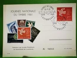 Luxembourg, Journée Nationale Du Timbre 1961 - Herdenkingskaarten