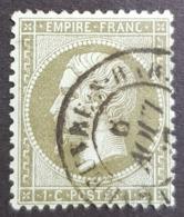 1862 - 1871 Emperor Napoléon Lll, 1c, Empire Française, France - 1862 Napoléon III