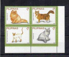 """FILIPPINE - 2006 - Lotto Di 4 Francobolli Tematica """" Animali - Gatti """" - Nuovi ** - Con Bordo Di Foglio - (FDC19388) - Filippine"""