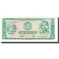 Billet, Pérou, 5 Soles De Oro, 1973, 1973-05-24, KM:99a, NEUF - Pérou