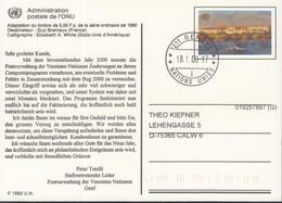UNO GENF  Ganzsache P 8, Gestempelt, Palais Des Nations Genf 1992 - Genf - Büro Der Vereinten Nationen